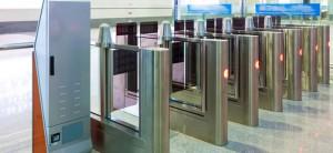 Puerta con control de acceso